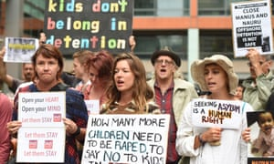 protesters march against offshore detention