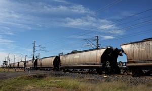 A coal train in Queensland's Galilee Basin, where Adani plans to develop its Carmichael mine. There are fresh questions about the employment it will create