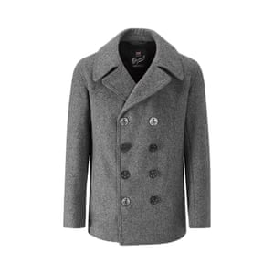 100% wool grey peacoat, £375, gloverall.com.