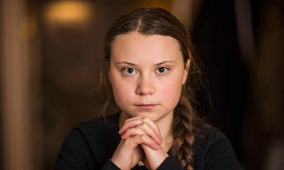 Greta Thunberg … 'I have always been that girl in the back who doesn't say anything.'