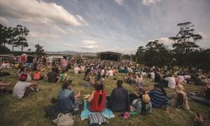 Falls festival at Marion Bay, Tasmania