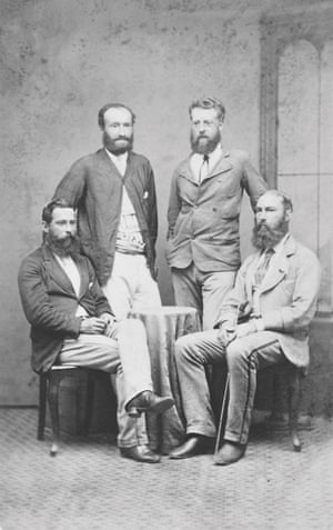 four white mean with beards in the formal dress of the 1800s