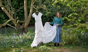 Tess Newall with missing great-grandmother's wedding dress