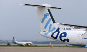 Flybe aircraft on airport apron