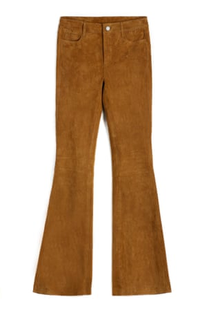 Suede flares, £1,098, by Paige.