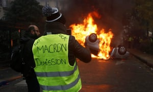 Protest against fuel prices in Paris