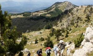 Hiking in the Pollino national park near Rotonda