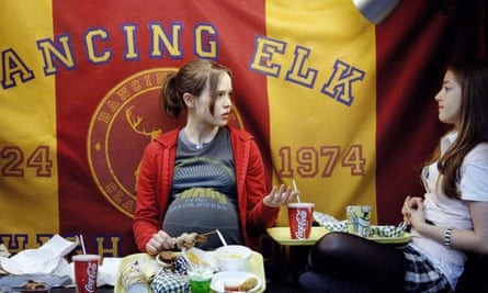 'Is Juno a you know?' asked the Village Voice: Ellen Page with Olivia Thirlby in Juno, 2007.