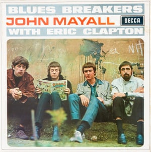 """The Blues Breakers with Eric Clapton I think this is one of the most iconic album sleeves of all time. It was known as """"the Beano cover"""" because Eric Clapton was reading a copy of the comic. He had come out of the Yardbirds and was quite a big star already. He hated having his picture taken. He was just showing his dislike for the whole photoshoot process by reading his comics while the others were getting on with it. And of course, next to him were John Mayall and John McVie, the Mac from Fleetwood Mac. It's an iconic sleeve and it's the album that started the British blues boom"""
