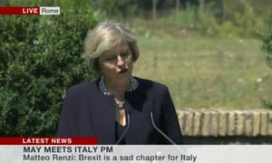 Theresa May in Rome.