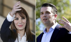 Randa Kassis, who is widely viewed as pro-regime by many dissidents, and Donald Trump Jr.