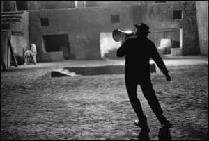Federico Fellini on the Set of Satyricon, Rome, Italy, 1969