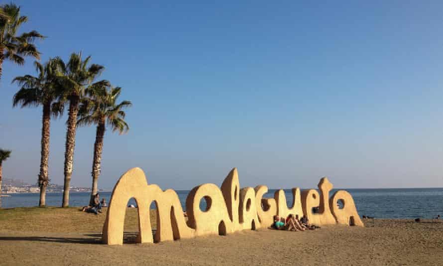 Playa de la Malagueta, in Malaga, Spain.