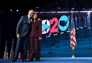 Kamala Harris and Douglas Emhoff at the Democratic National Convention