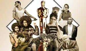 Bohemian Rhapsody; Oscar award statue; The Favourite; If Beale Street Could Talk; Green Book; Vice; A Star Is Born; At Eternity's Gate; BlacKkKlansman.