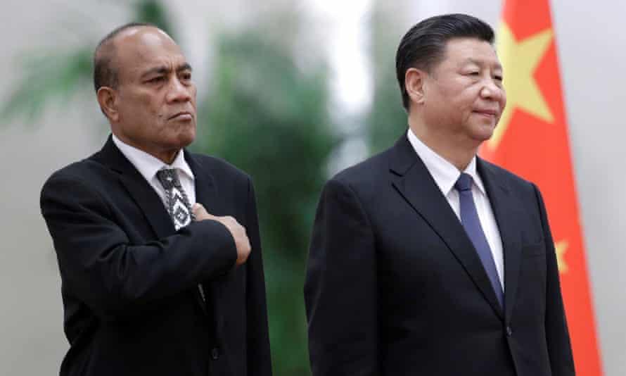 China's President Xi Jinping and Kiribati's President Taneti Maamau met in Beijing in January.