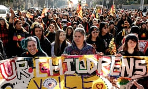 Thousands of people take to the streets in the annual Naidoc march in Melbourne