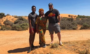 Rodney Diverlus and Patrisse Cullors from Black Lives Matter in Mildura with IndigenousX's Jack Latimore