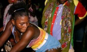 Voudou dancing on Ile-a-vache.