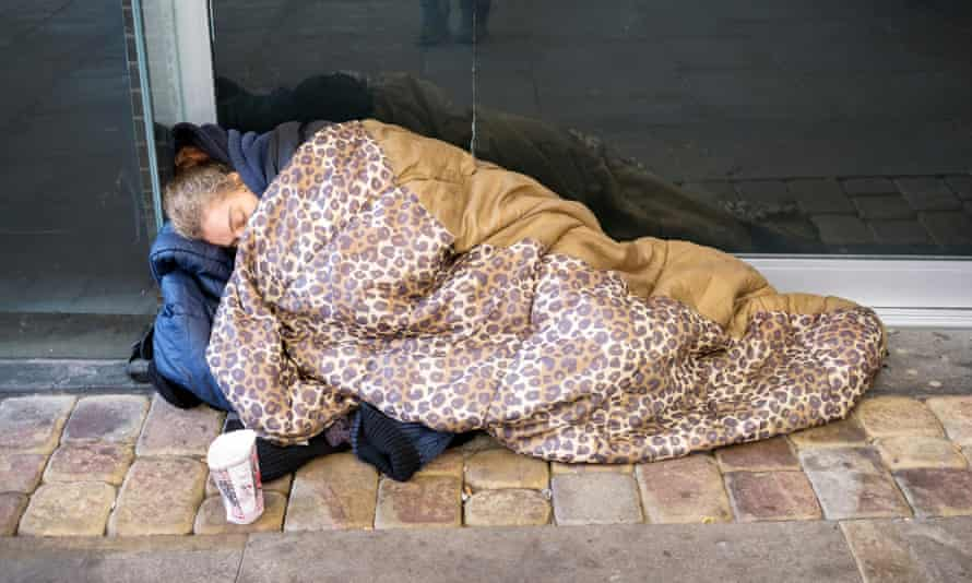 A homeless woman in Manchester