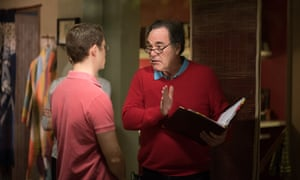 Oliver Stone on the set of his film Snowden