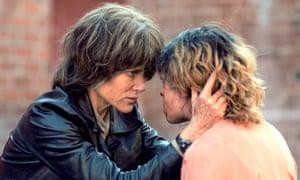 Ravaged … Nicole Kidman as Erin and Tatiana Maslany as Petra.