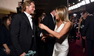 Brad Pitt and Jennifer Aniston enjoy themselves at the Screen Actors Guild awards.