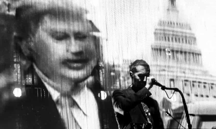 Robert Del Naja performs with Massive Attack