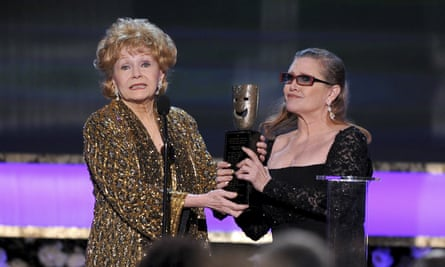 Debbie Reynolds, left, and Carrie Fisher in Los Angeles, 2015.