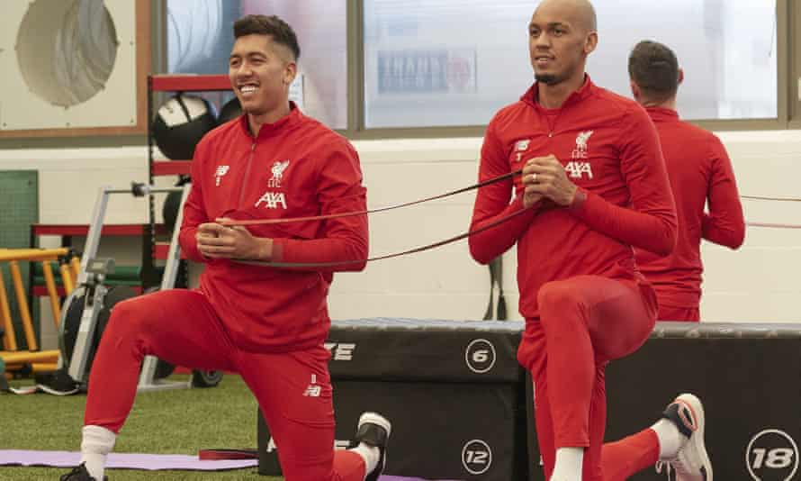 Roberto Firmino (left) helped Liverpool recruit Fabinho, his fellow Brazilian.