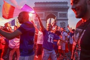 Fans celebrate in Paris