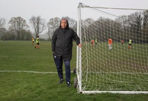 Dr Colin King, a veteran of the grassroots game and a leading figure at the Black and Asian Coaches Association, at Dulwich sports ground, London.