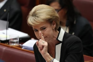 Minister for small business Michaelia Cash during question time in the senate this afternoon, Tuesday 12th February.