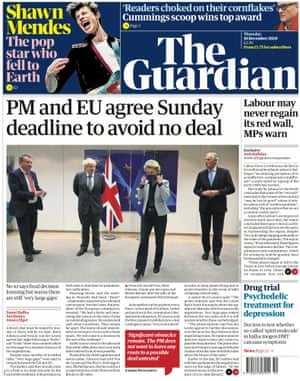 Guardian front page for Thursday 10 December 2020