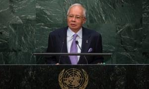 The Malaysian prime minister, Najib Razak