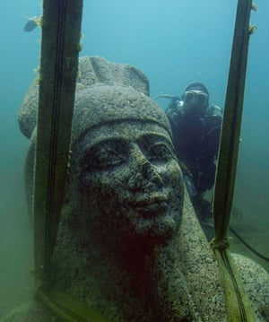 A statue of the god Hapy from Sunken Cities.