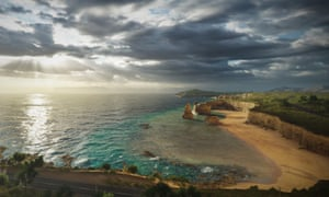 Forza Horizon 3 actually features sequential photographic samples of Australian skies, which evolve as you play