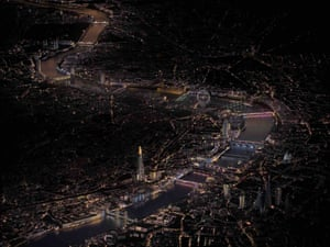 The Illuminated River aerial view