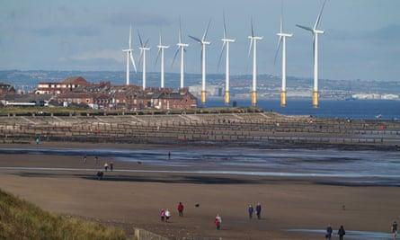 Teesside windfarm off the North Yorkshire coast