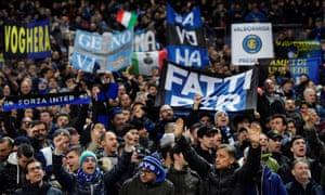 Inter Milan fans enjoy themselves.