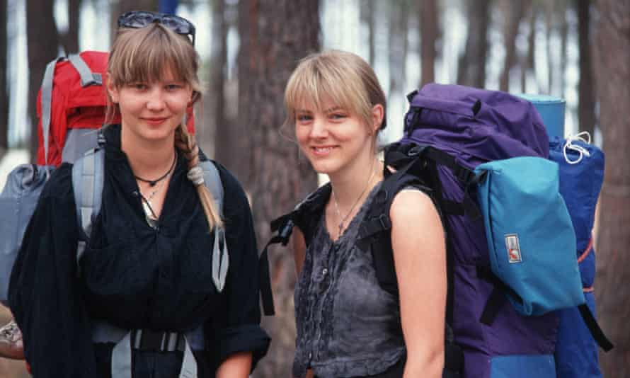 Teenage backpacker holiday