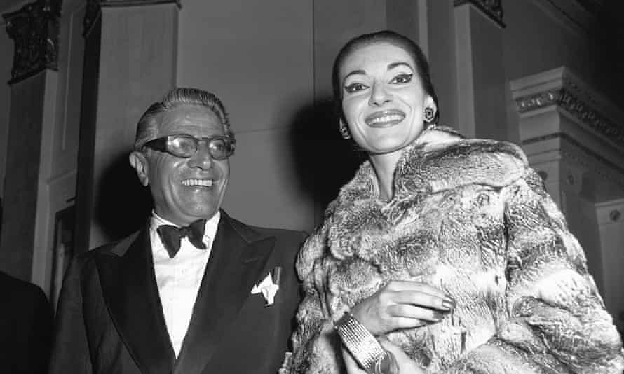 Maria Callas with lover Aristotle Onassis in 1959.