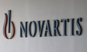 Novartis logo on building