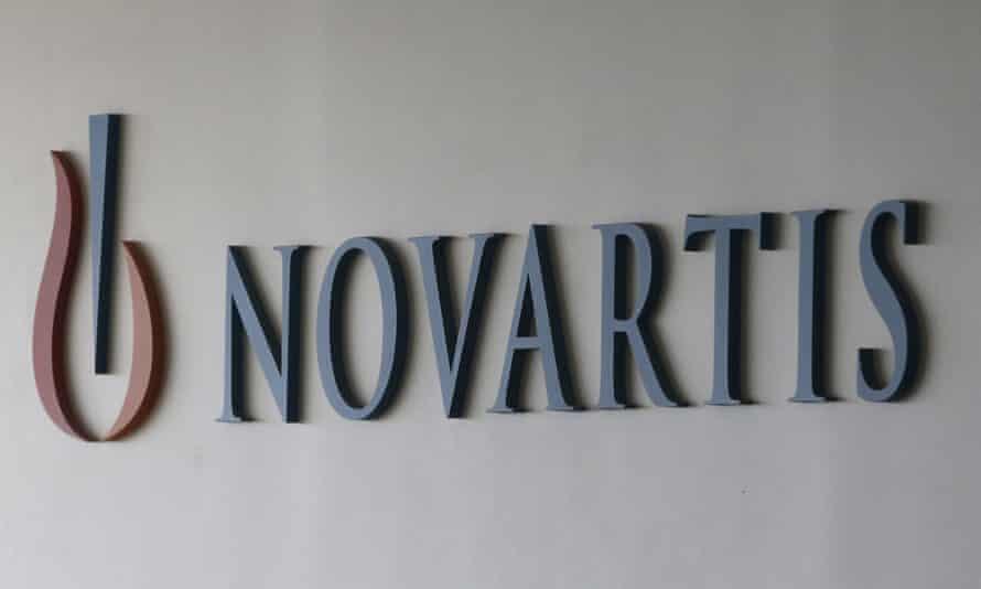 Novartis logo on building