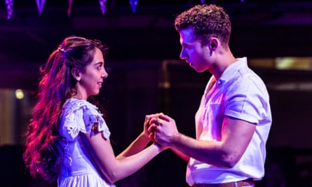 Gabriela Garcia as Maria and Andy Coxon as Tony in West Side Story at Royal Exchange, Manchester.
