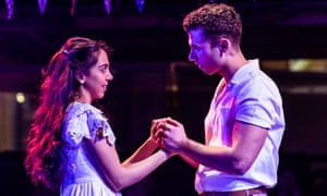 Gabriela Garcia as Maria and Andy Coxon as Tony in West Side Story at the Royal Exchange, Manchester.