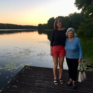 Delgado and her grandmother on a family holiday in Poland, summer 2017