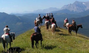 Horse riders on top of a mountain in Italy, Zara's Planet