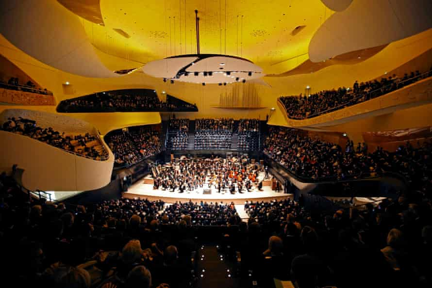 The sumptuous new Philharmonie de Paris concert hall.