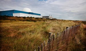 The Sizewell B nuclear power plant operated by energy company EDF sits on the coast in Suffolk.